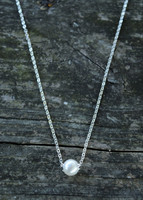 Mother of Pearl Necklace- Silver