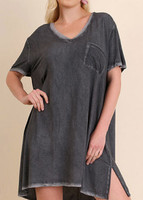 *WR7605 - ASH V-Neck Dress with pockets