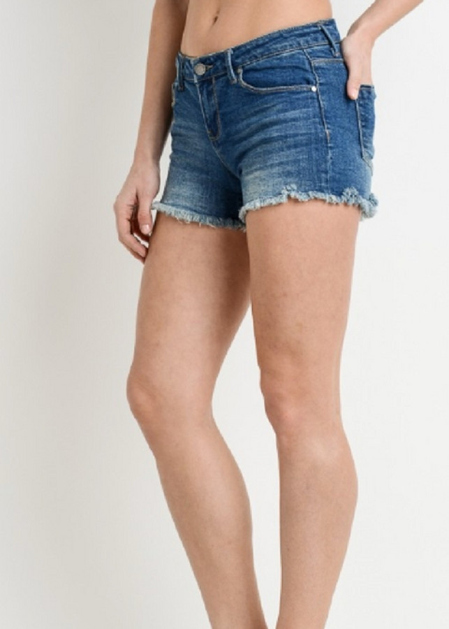 Cut Off Jean Shorts - 078