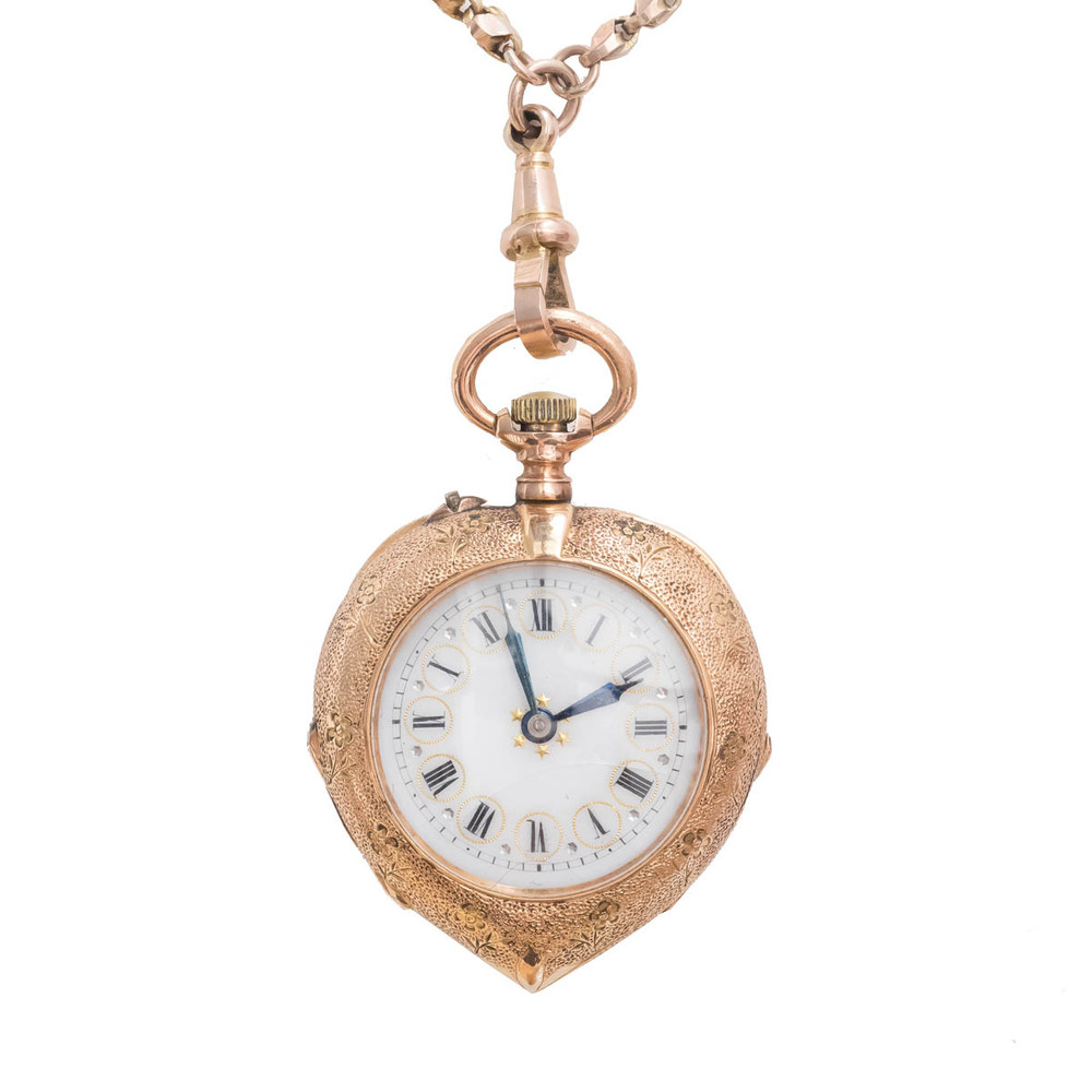 pocket necklace watch antique pendant key silver