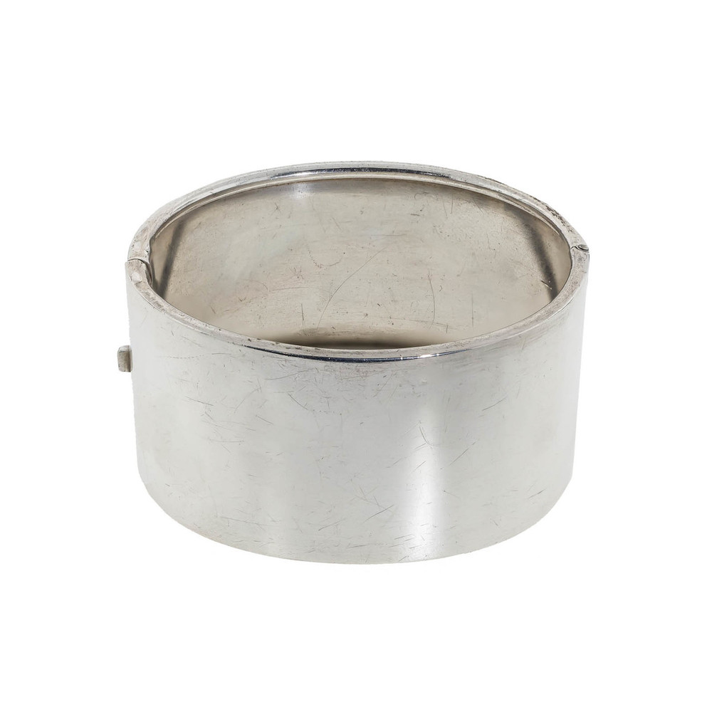 Antique Silver Bangle in the Form of a Sleeve Cuff