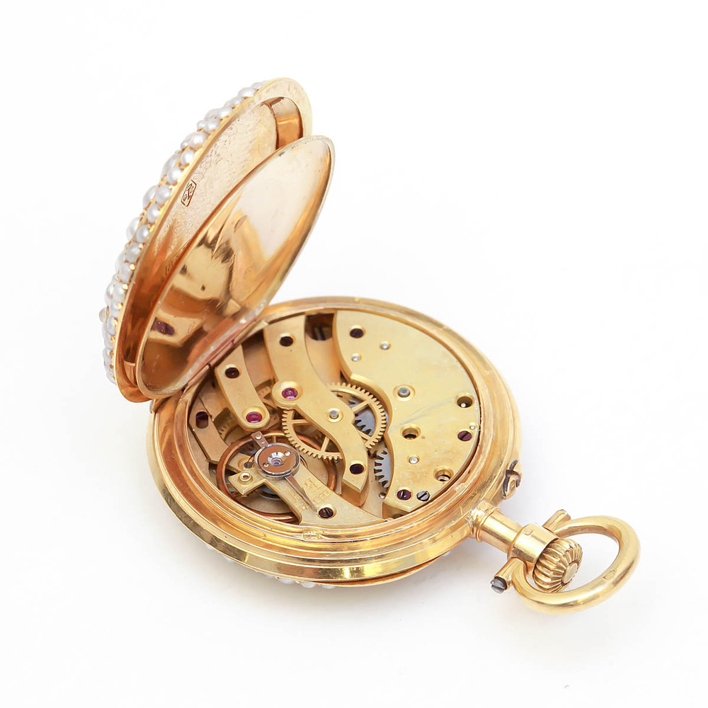 Antique 13 Jewel Swiss Pocket Watch in 18 kt Gold