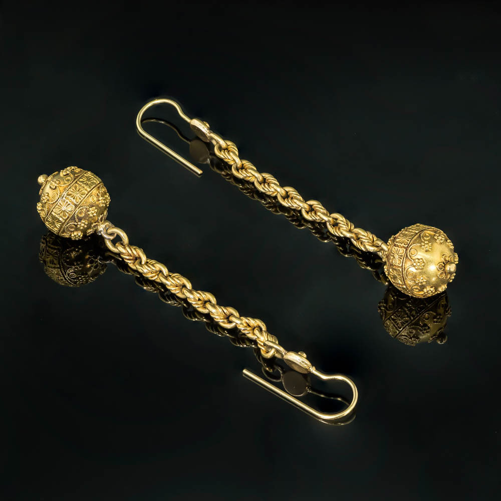 Antique 18ct Gold Earrings