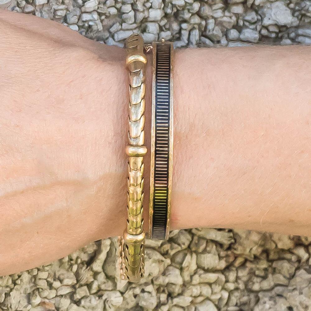 Antique Victorian Snake Link Bracelet in 15 ct