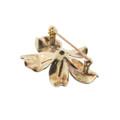 Enamel over Gold Flower Brooch