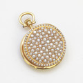 French Antique Seed Pearl & Gold Pocket Watch