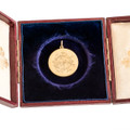 Antique Victorian Locket With Engraved Monogram in 18 Ct Gold