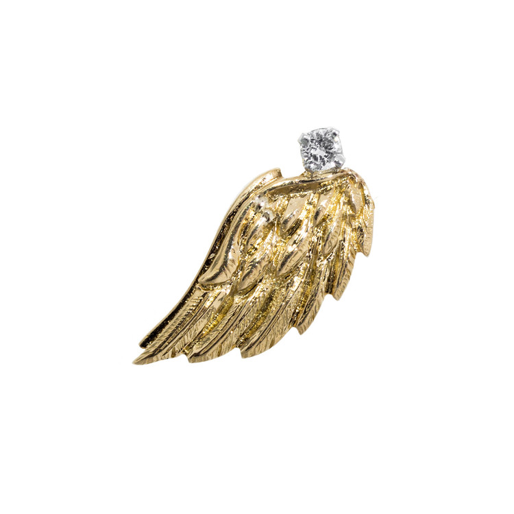 vintage diamond wing charm