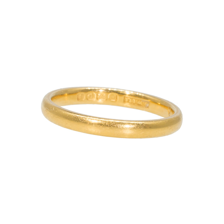 Vintage Art Deco Gold Band Ring in 22 Ct Gold