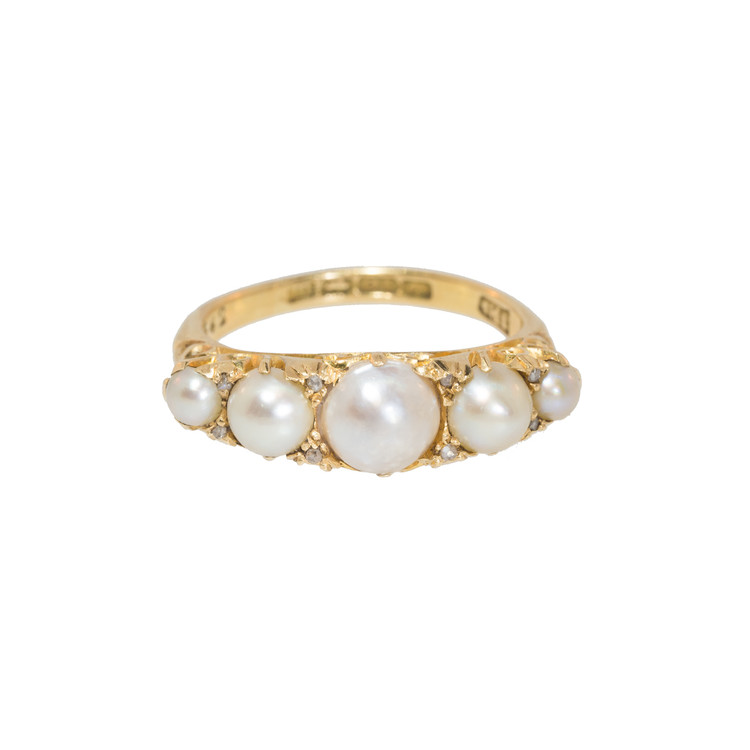 Antique Edwardian Half-Pearl Ring