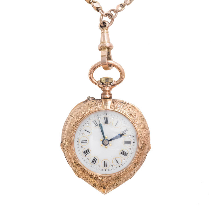 Antique Gold Pocket Watch as Pendant