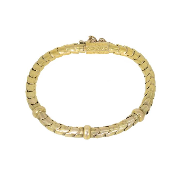 Victorian Gold Link Snake Scale Bracelet
