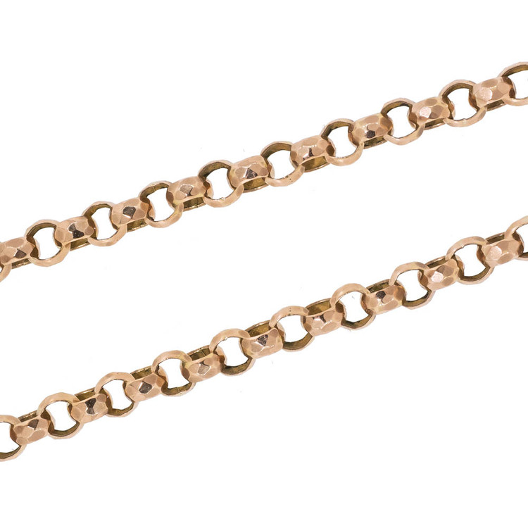 Antique Victorian Gold Link Chain Necklace