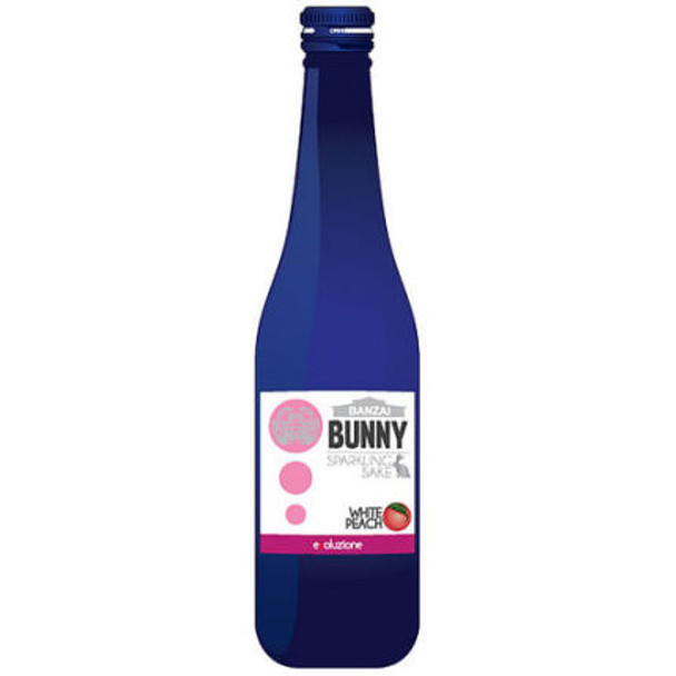 Banzai Bunny White Peach Sparkling Junmai Sake 300ml