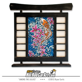 Original painting created by SIN Customs hot rod artist Ryan Curtis - Featuring a Koi fish