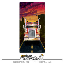 Kenworth semi truck - Decorative Metal Sign