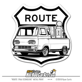 1966 Ford Econoline Pickup - Decorative Metal Sign