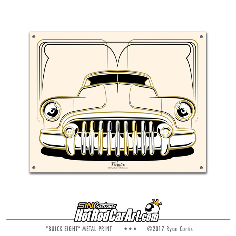 Pinstriped 1951 Buick Eight - Decorative metal sign