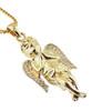 10K Yellow Gold Micro Diamond Angel