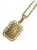 10K Gold 1.12CT Yellow Diamond Square Pendant