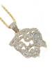 10K Gold 0.95CT Diamond Shadow Jesus