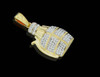 10K Gold 0.35CT Diamonds Micro Bomb Pendant