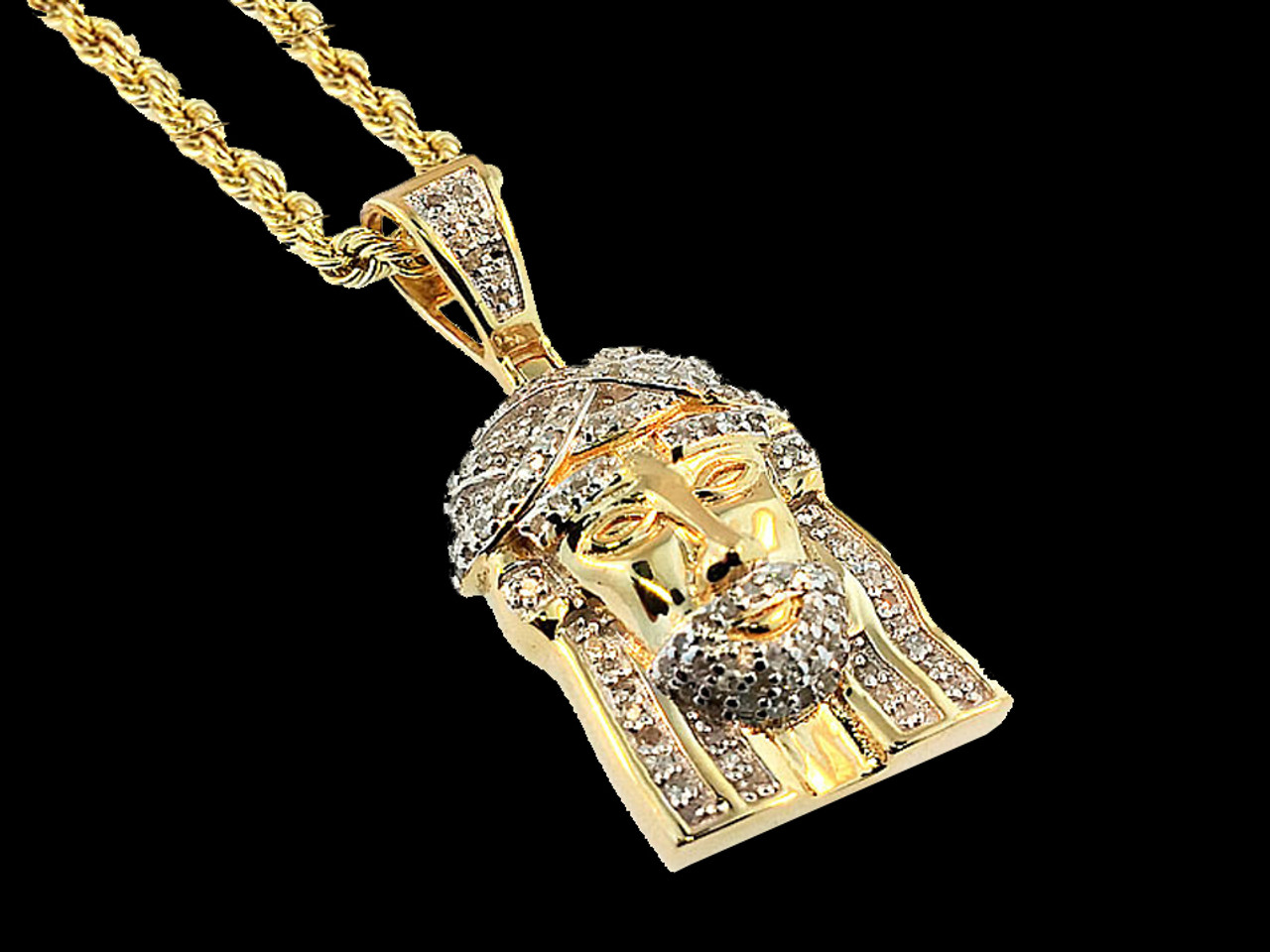 10k yellow gold 020ct diamond jesus head king johnny johnnys 10k yellow gold 020ct diamond jesus head aloadofball Choice Image