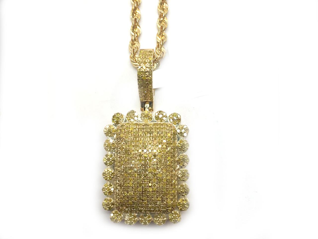 10k gold 112ct yellow diamond square pendant king johnny 10k gold 112ct yellow diamond square pendant mozeypictures Choice Image