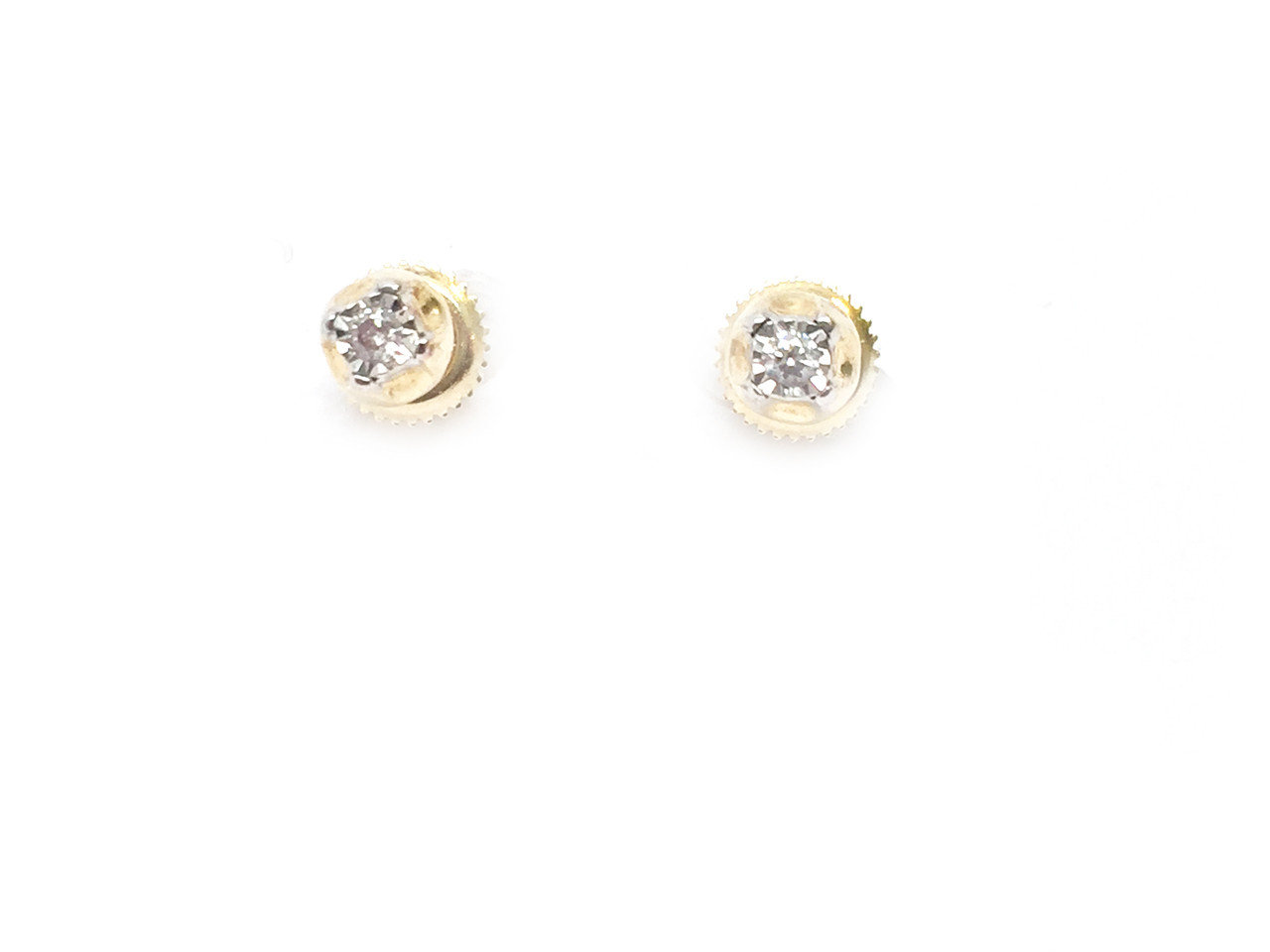 ye gold round kite p diamond earrings stud