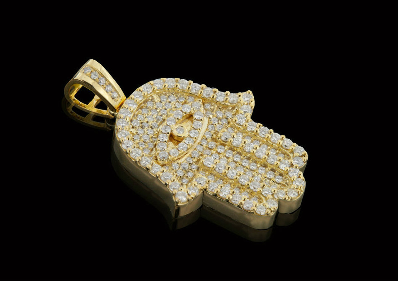 10k gold 155ct diamonds custom hamsa pendant king johnny 10k gold 155ct diamonds custom hamsa pendant mozeypictures Image collections