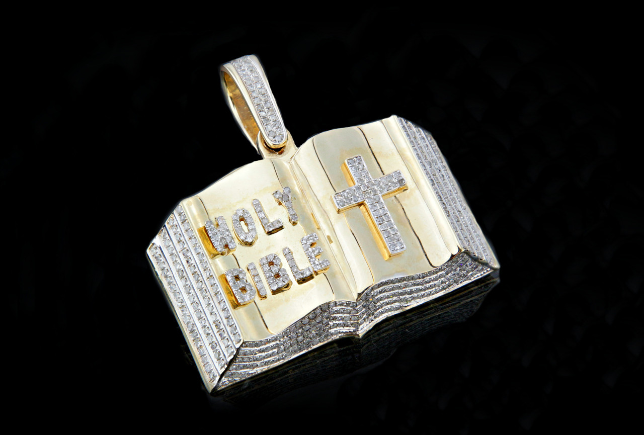10k gold 100ct diamonds holy bible pendant king johnny 10k gold 100ct diamonds holy bible pendant mozeypictures Image collections