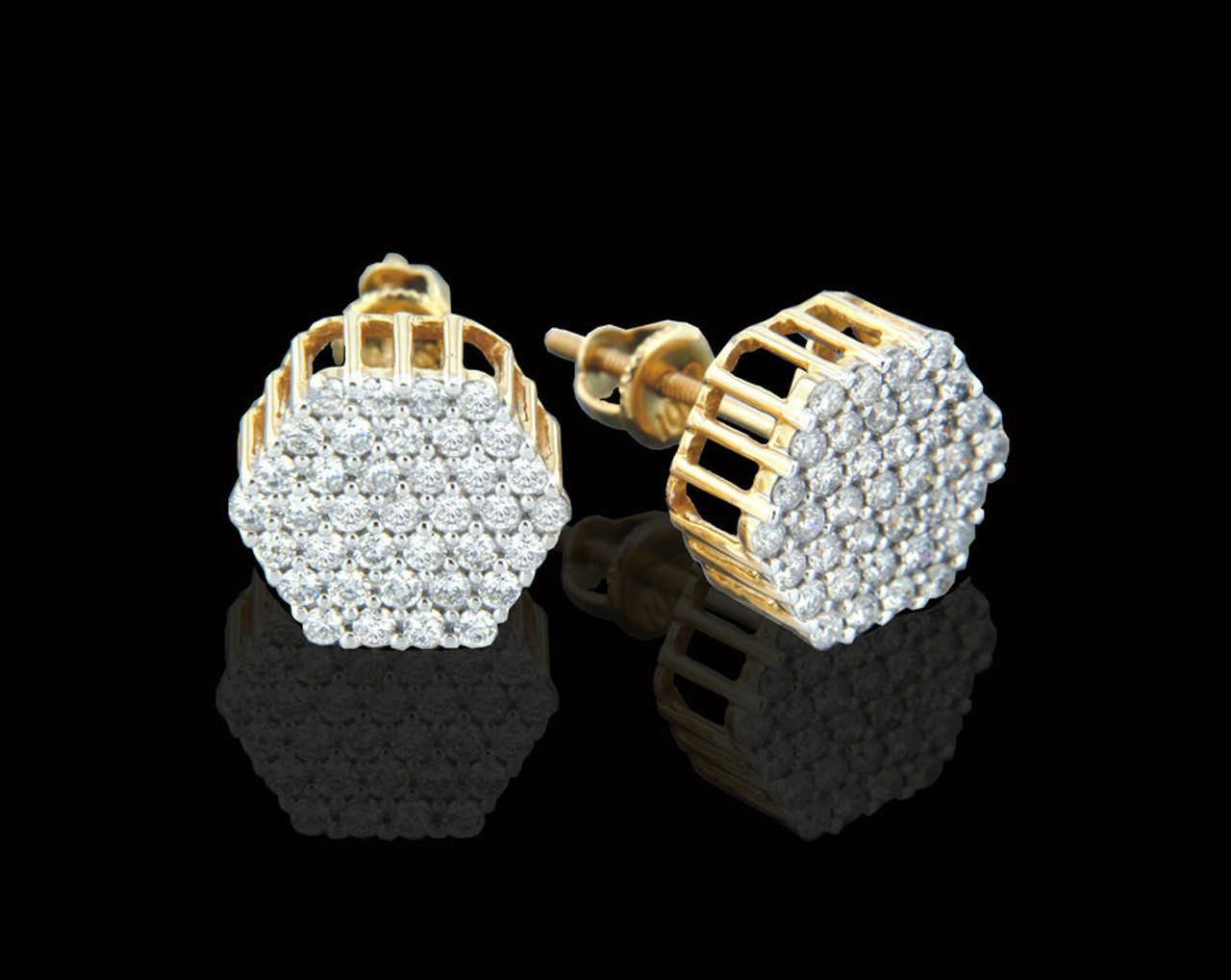 10k Gold 1 00ct Diamonds Earrings