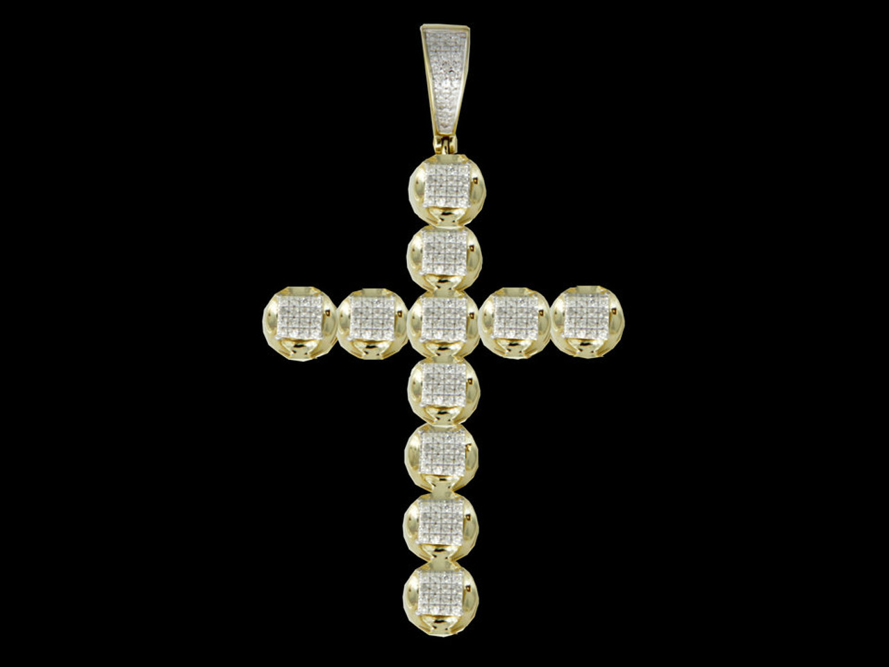 10k gold 039ct diamonds cross pendant king johnny johnnys 10k gold 039ct diamonds cross pendant mozeypictures Gallery