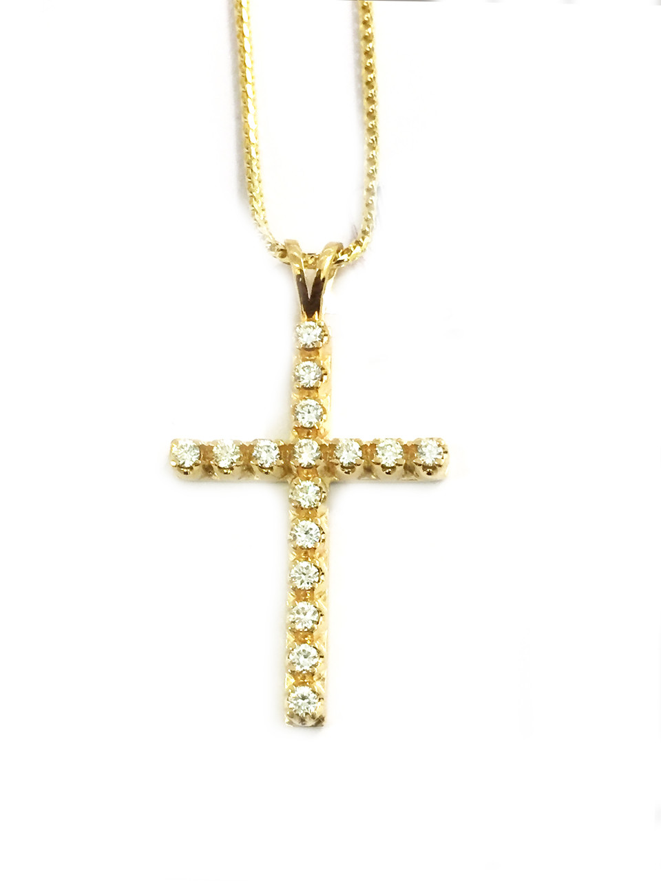 king wings ankh diamonds chain with gold ct necklace img