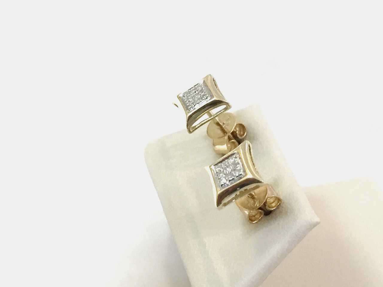 images jewelrychicago zirconia k earrings cubic on cz gold pinterest yellow letters initial stud letter best