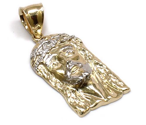 10K Gold Jesus Piece with Diamond Cuts JS066 King Johnny