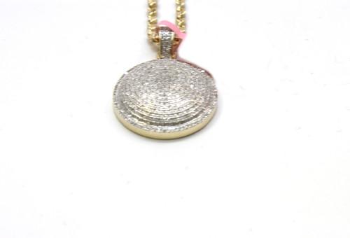 10K Gold 0.90 Ct Round Diamond Pendant