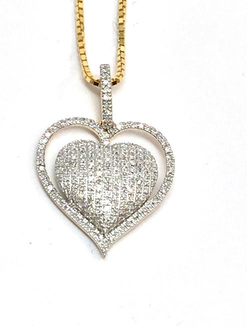 10K Gold 0.25 CT Diamond Pendant
