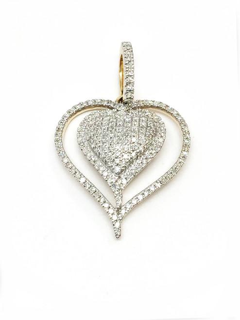 10k Gold 0.25 CT Diamonds Pendant