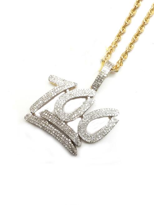"10K Gold 0.75CT Diamond ""100"" Pendant"