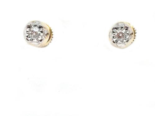 10K Gold 0.15CT Diamonds Earrings