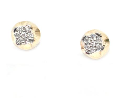 10K Gold 0.16CT Diamonds Earrings