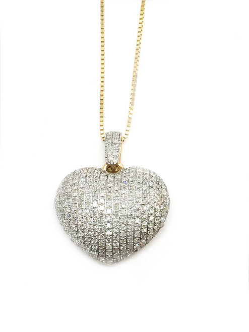10K Gold 0.35CT Diamond Heart Pendant