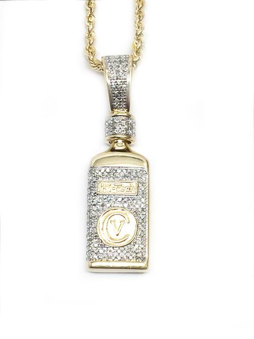 10K 0.54ct diamonds Hi tech Bottle Pendant