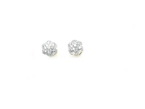 10K Gold  1/2 Ct Diamond Earrings
