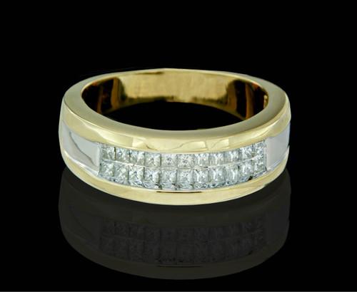 14K Gold 0.90CT Diamonds Men's Band