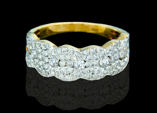 14K Gold 1.00CT Diamonds Ladies Wedding Band