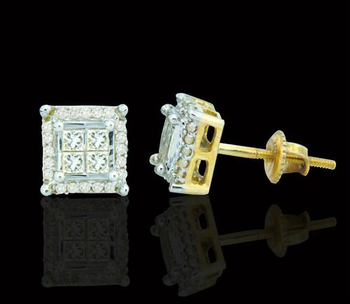 14K Gold 0.58CT Diamonds Earrings