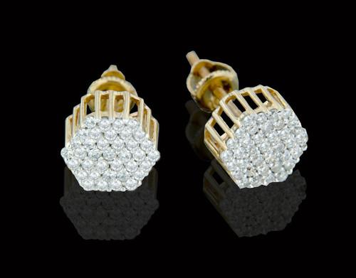 10K Gold 0.55CT Diamonds Earrings