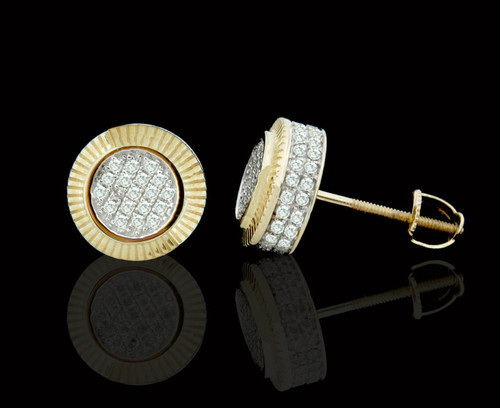 10K Gold 0.55CT Diamond Round Earrings